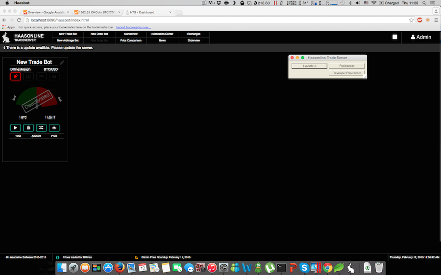Haasbot OSX