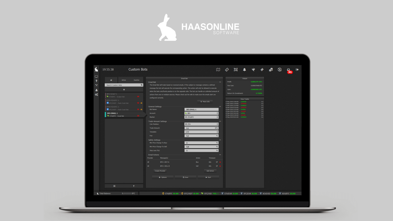 Our Haasbot bitcoin trading bot licenses have been updated