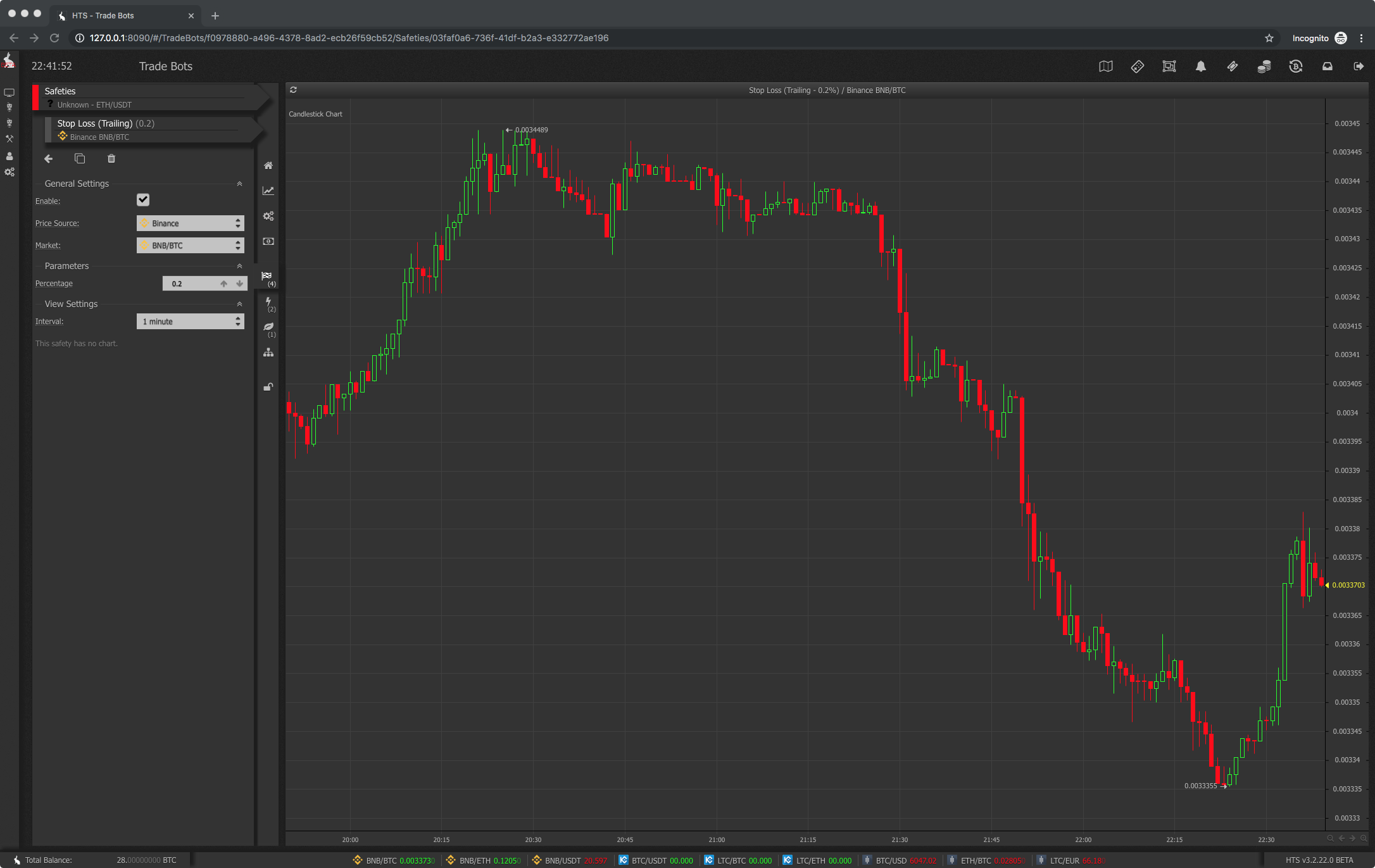 Trailing stop loss haasbot safety